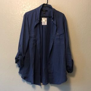 NWT Blue Button Up